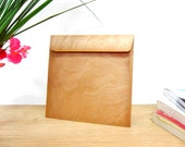 Real Wooden Envelope - 12 pieces - Cherry - Size 125 x 125 mm