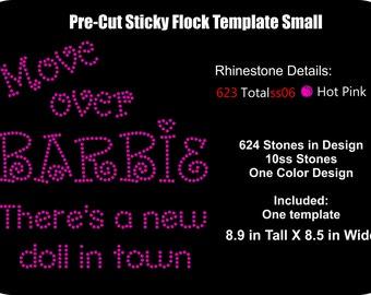 Pre cut rhinestone flock alphabet font sassy disney for Pre cut sticky flock templates