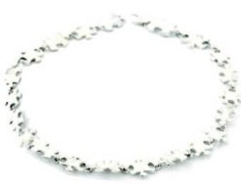 Sterling Silver Jigsaw Link Bracelet