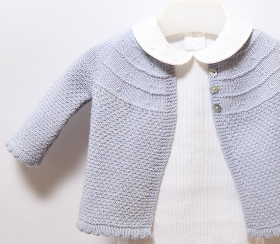 Baby Knitting Patterns With Instructions : Baby Jacket / Knitting Pattern Instructions by ...