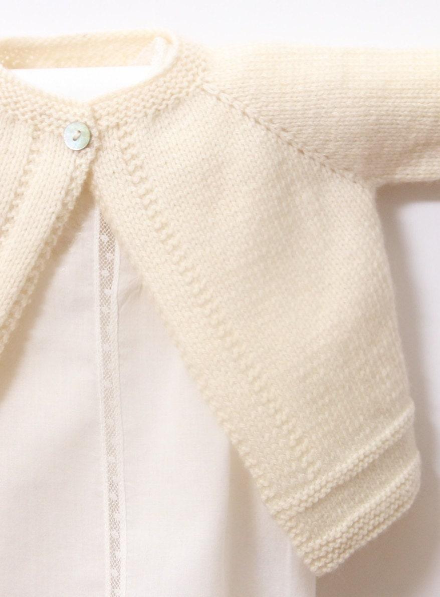 Baby Cardigan / Knitting Pattern / English Instructions ...