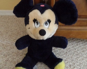 """13"""" plush Minnie Mouse, Tagged: Walt Disney Productions, Made in Thailand."""