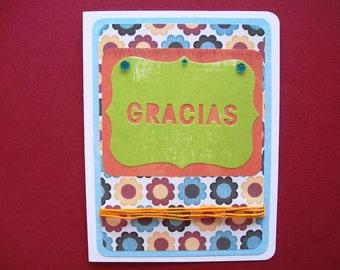 Gracias Greeting Card - Blank Inside, Note Card, Stationery