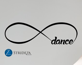 Dance decal, dance decor, dance decorations, dance wall decal, dance wall art, dance wall decor, dance sticker, dance wall sticker, D00366.
