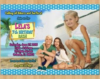 Teen Beach Invitation, Teen Beach Movie Invitations, Photo invite, Teen Beach Movie 2 Invitation Printable, Teen Beach Movie Birthday Party