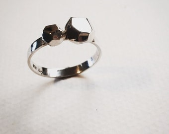Rock my world two facet ring