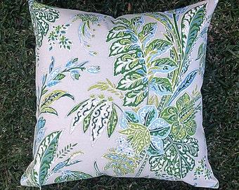 Floral Green Outdoor Cushions, Outdoor Pillows Tropical Boho Tommy Bahama Green Pillows Alfresco Cushions Tropical Pillows