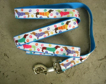 Dachshund Doxie Wiener dog leash in Dachshunds in Sweaters/T's Doxies  dog LEASH