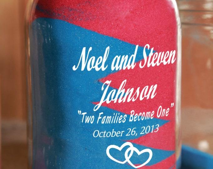 Engraved Redneck Unity Sand Ceremony 1 piece - Big Jar Only Personalized - Quart Mason Jar - Sand NOT included.