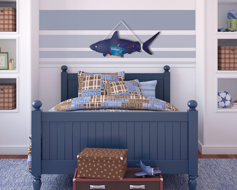Shark Magnet Board kids room decor beach house by Authenticaa