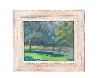 "Barbara Davis ""Lacy Park"" Impressionist Landscape Oil Painting"