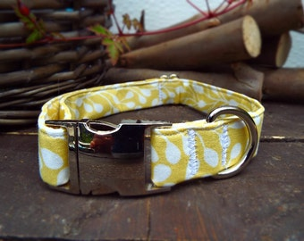 Yellow print Dog Collar