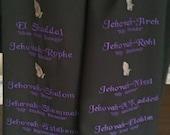 Prayer Shawl:  Polyester Poplin Machine Embroidered Names of God Prayer Shawl