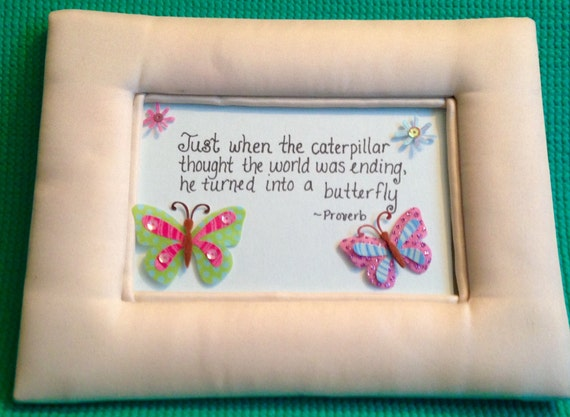Frames With Quotes On Them: Padded Satin Frame With Inspirational Quote, Inspirational