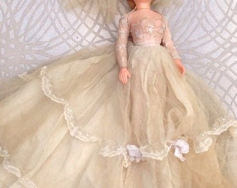 Vintage 1950s Evergreen Bridal Doll - Made In Hong Kong