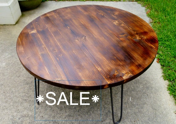 Sale Round Coffee Table By Luttrelldesigns On Etsy