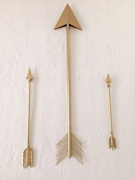 Gold Arrow Wall Decor : Items similar to arrows wall decor inch tribal