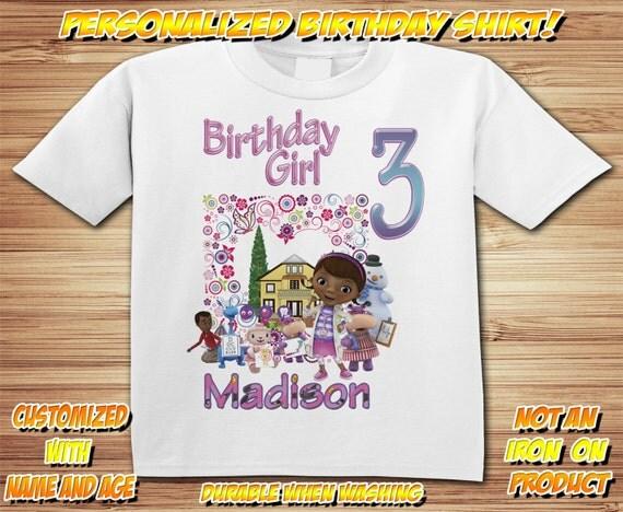 Personalized Doc McStuffins Birthday Shirt - tshirt custom