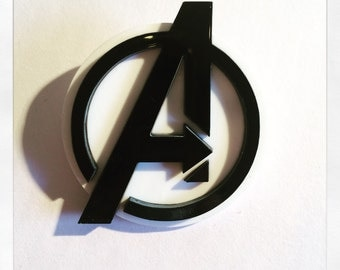 Marvel Avengers Inspired Acrylic Badge Brooch