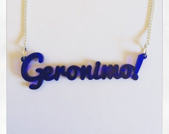 Doctor Who Inspired Eleven Geronimo Acrylic Necklace