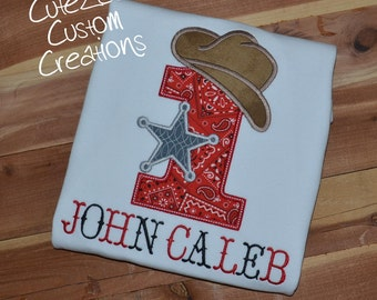 Cowboy Birthday Onepiece/Shirt