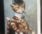 A Corporate Cat Fun Vintage Greeting Card Repro