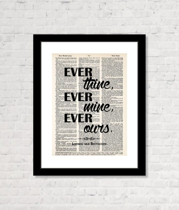 ever thine ever mine ever ours ludwig van beethoven quote