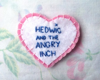 HEDWIG and the ANGRY INCH Felt Heart Patch