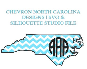 North Carolina Designs for Cutting Machines | SVG and Silhouette Studio (DXF)