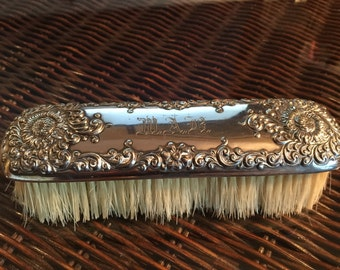 Victorian Silver Clothes Brush