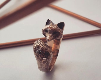 Fox Ring in Bronze
