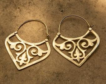 Hoop Earrings, Gold Earrings, Gypsy Earrings, Boho Earrings, Statement Earrings, Belly Dance, Tribal Jewelry, Gifts For Her