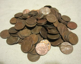 One (1) Pound US Copper Penny Cents Pre 1959-1982