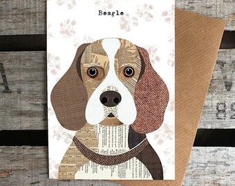 Beagle dog greetings card
