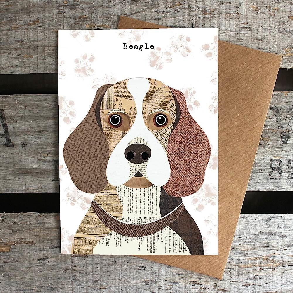 Crafts For Dog Lovers: Beagle Dog Greetings Card