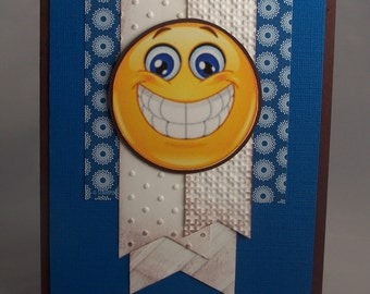 Stampin Up Handmade Greeting Card: Blank Note Card, Orthodontist Thank You Card, Orthodontic, Dentist, Braces, Smile, Happy Face, Teeth