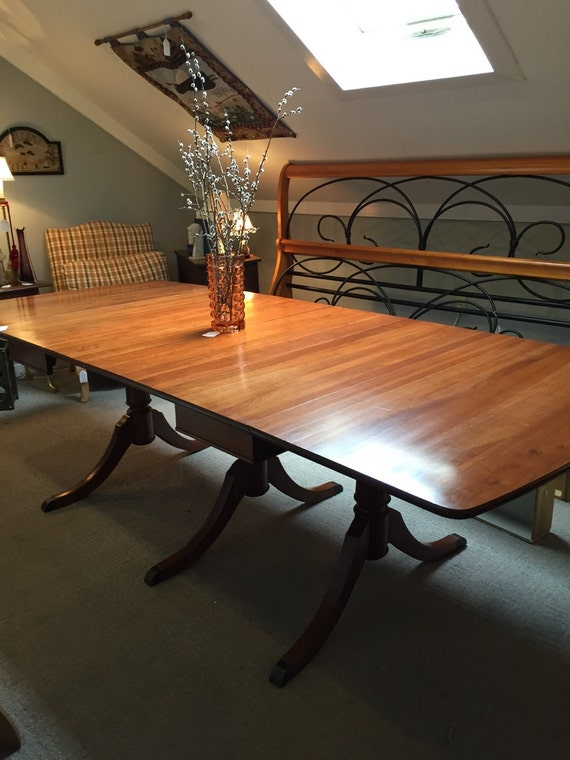 Items similar to sold duncan phyfe dining room table for Dining room tables etsy