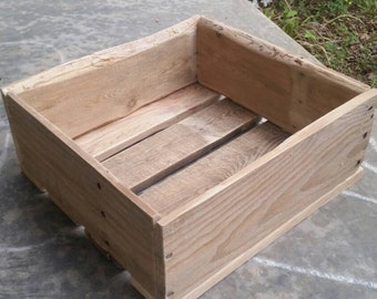 Rustic Reclaimed Wood Crate