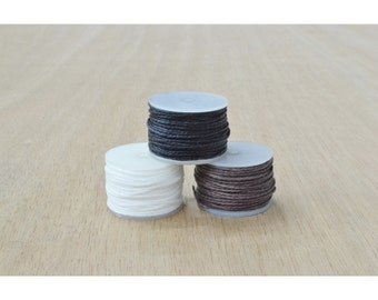 CHOOSE COLOR- 3 pack bobbins sewing awl thread Leathercraft