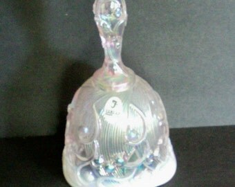 Fenton Opalescent Pink Glass Bell - 5953