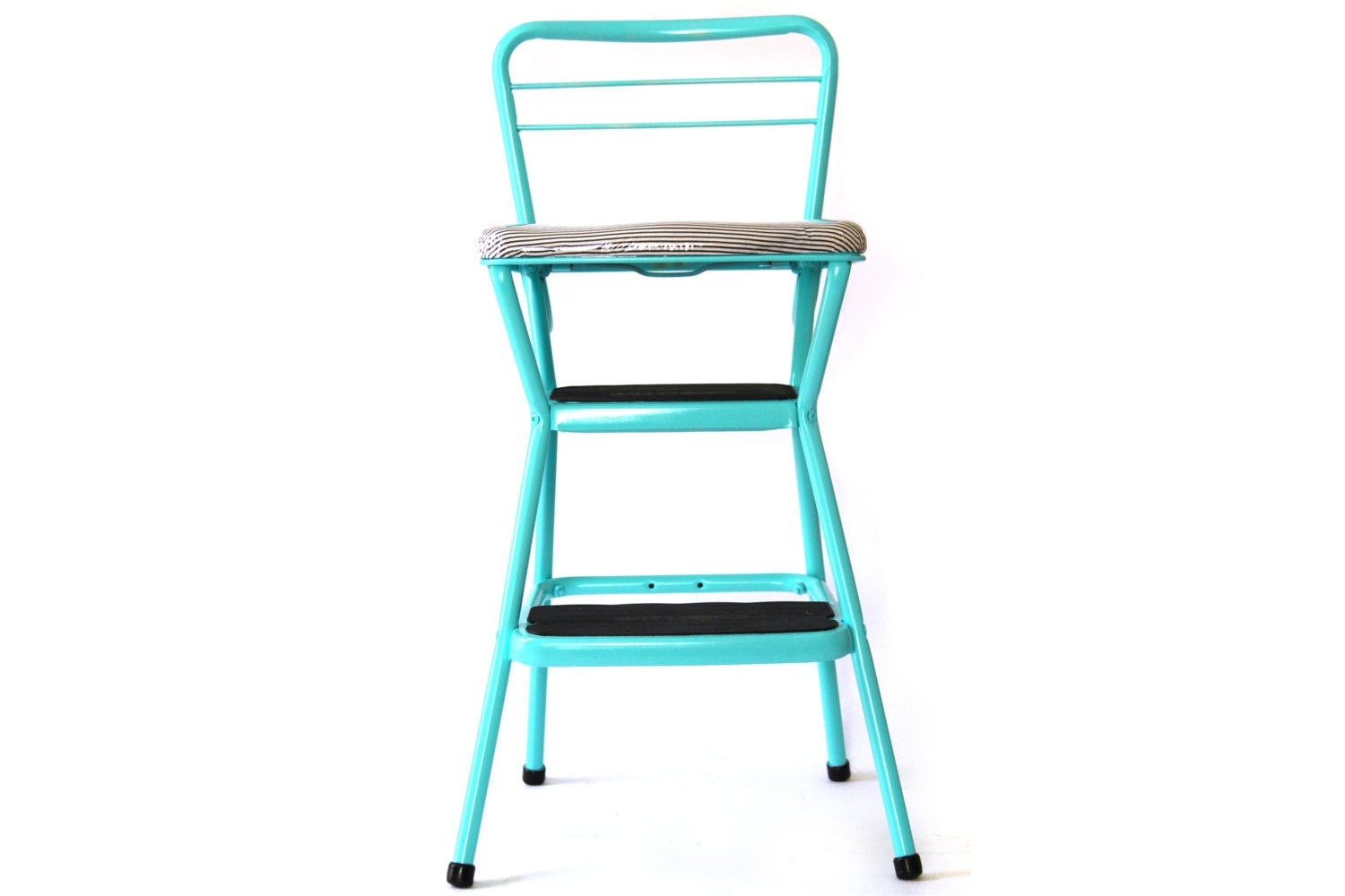vintage cosco metal step stool kitchen chair combo