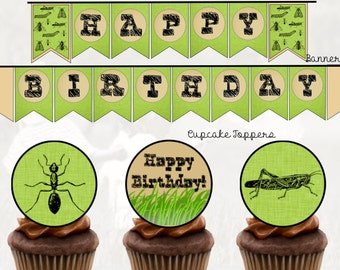 Bug Party Printable Package, Insect, DIY, PDF (Full Service Avaliable)