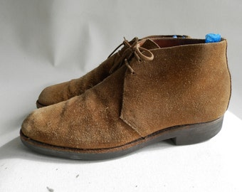 Gold Suede Ankle Boots from the 1970s (UK size 7)