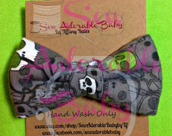 Infant/Toddler Skulls Bowtie with Velcro Closure