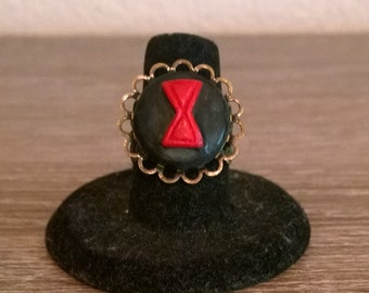 Black Widow Cameo Ring