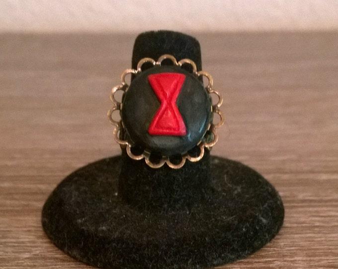 Black Widow Cameo Ring