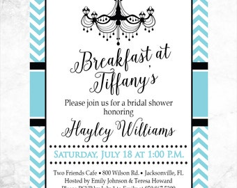 Printable Breakfast at Tiffany's Bridal Shower Invitation - 4x6 or 5x7 - Wedding Shower Invitation