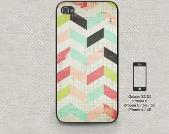 Cell phone case iphone 6 Rustic Chevron 155