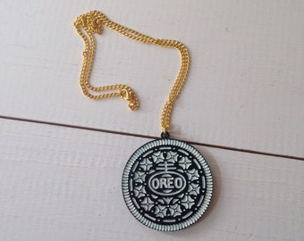 OREO Biscuit Laser Cut and Engraved Necklace