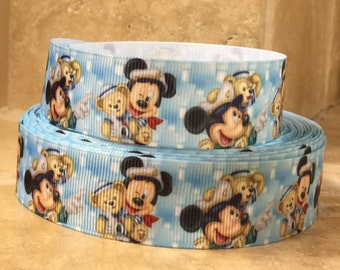 5 YDS Mickey Mouse Mouse w/ Duffy Ribbon